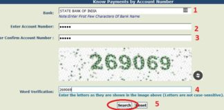 PFMS ScholarShip 2019 payment using account number