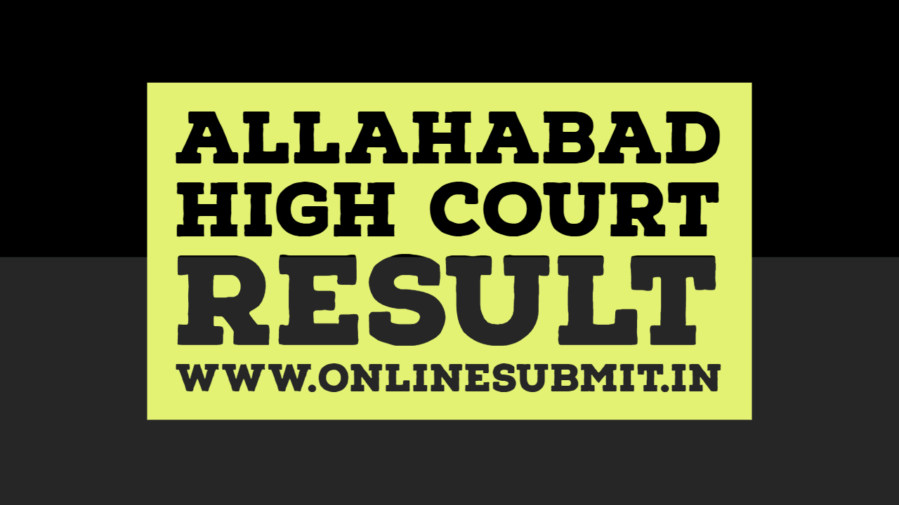 Allahabad high court result