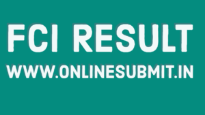 FCI Result
