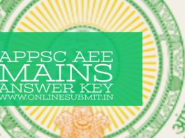 appsc ae mains answer key 2019