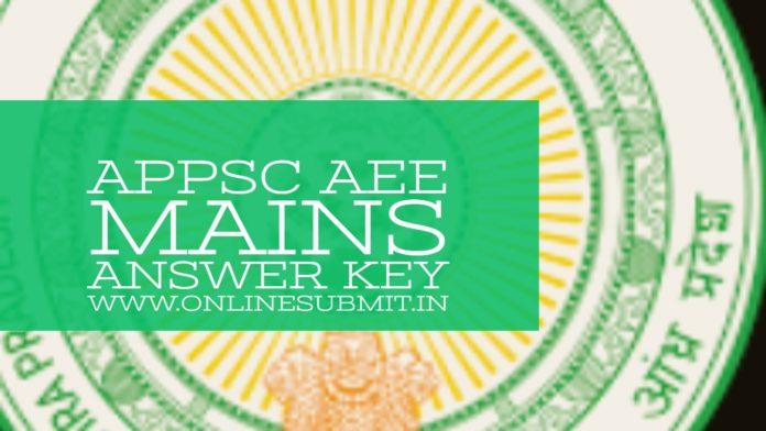 appsc ae mains answer key 2019