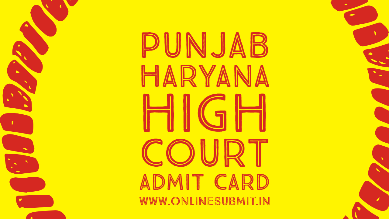 Punjab high court admit card
