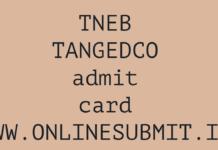 TNEB TANGEDCO ADMIT CARD 2019
