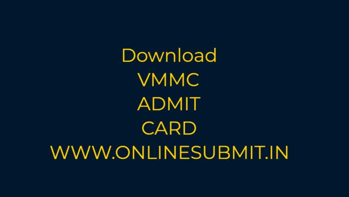 VMMC ADMIT CARD