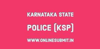 KSP SI Provisional list