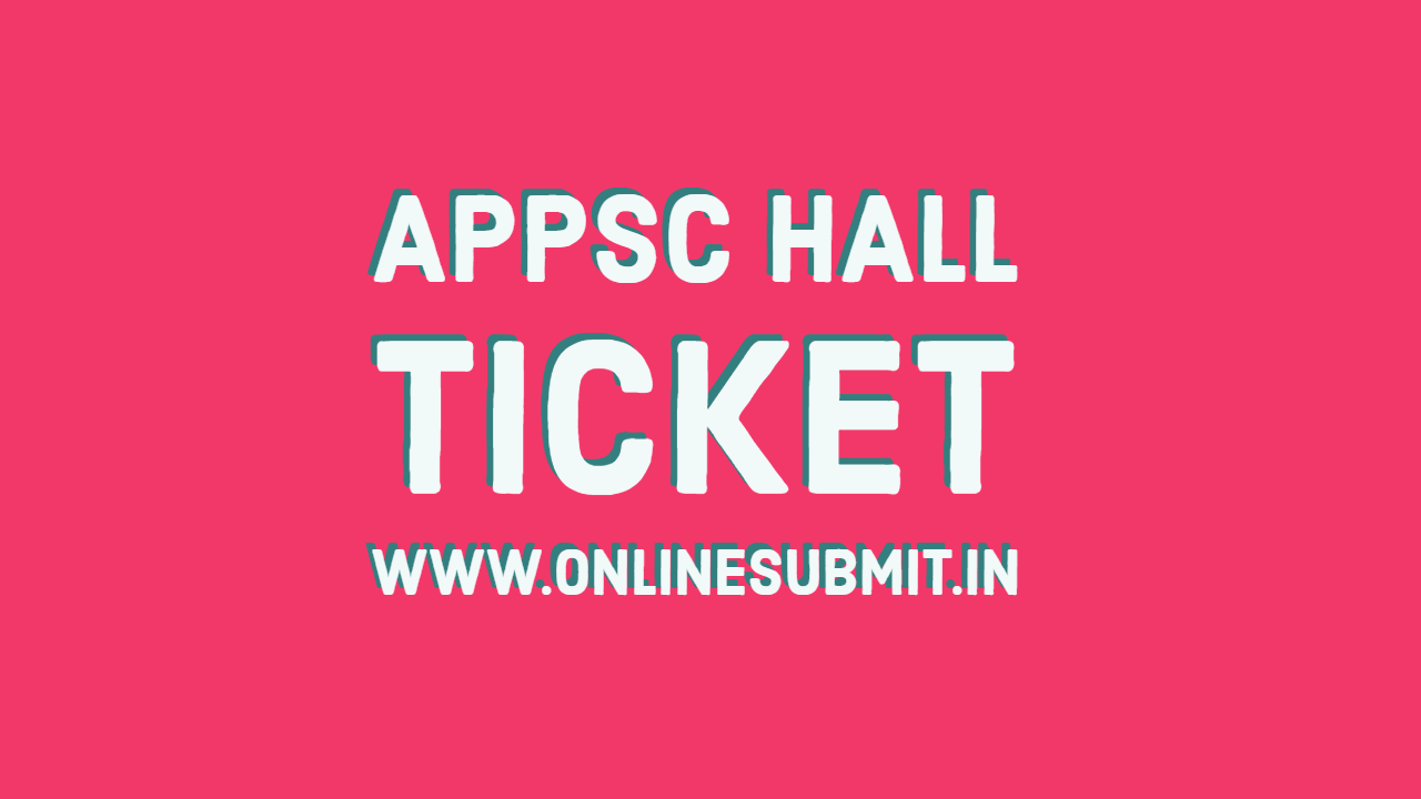 APPSC FBO & ABO hall ticket