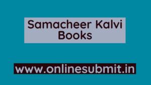 Samacheer Kalvi Books