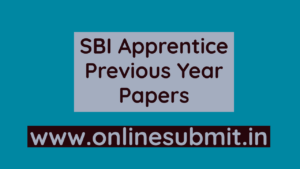 SBI Apprentice Previous years papers